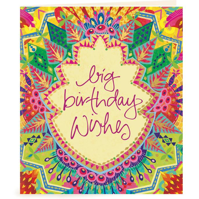 Intrinsic-Big Birthday Wishes Gift Tag