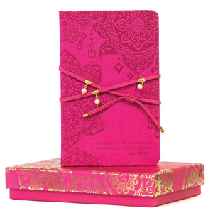 Intrinsic-Carnival Pink Pearl Wrap Journal
