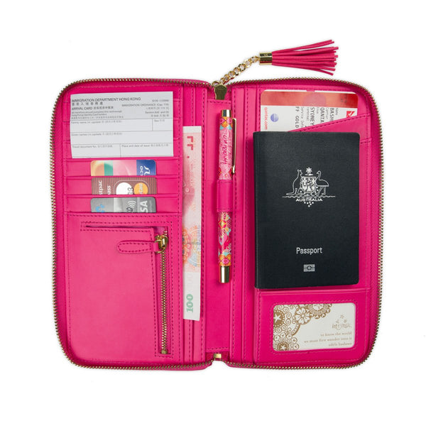 Carnival Pink Travel Clutch-The Intrinsic Way