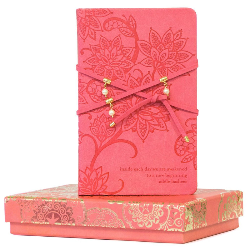 Coral Crush Pearl Wrap Journal-The Intrinsic Way