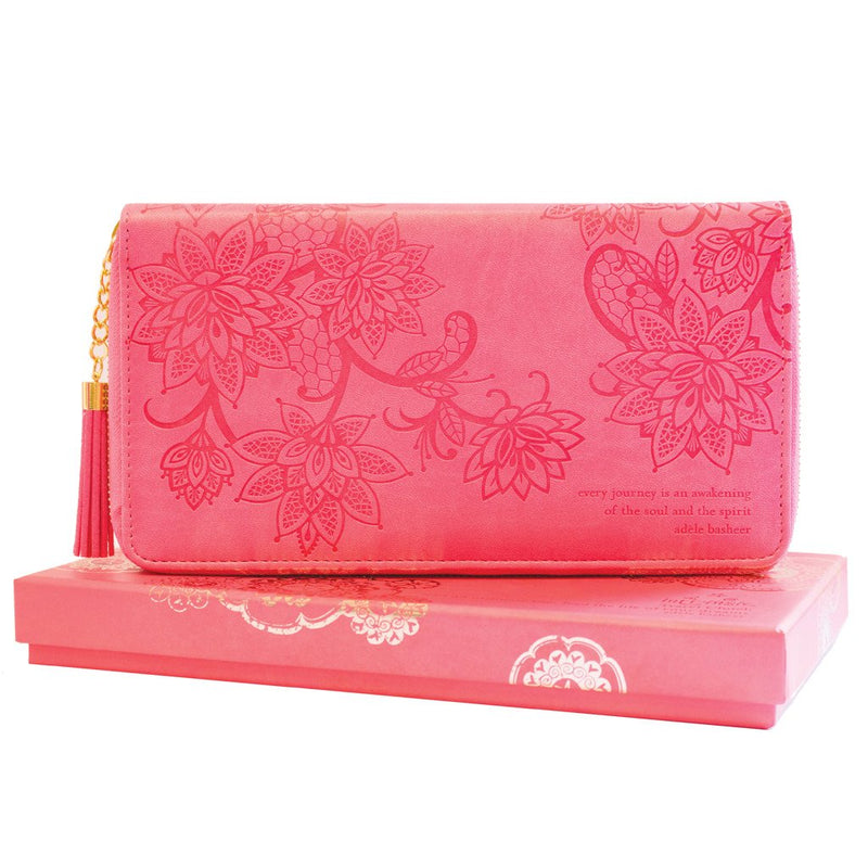 Intrinsic-Coral Crush Travel Clutch