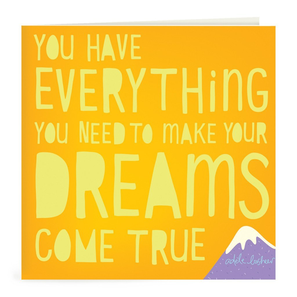 Dreams Come True Greeting Card-The Intrinsic Way