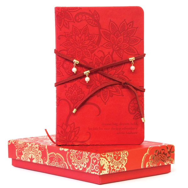 Fiesta Red Pearl Wrap Journal-The Intrinsic Way