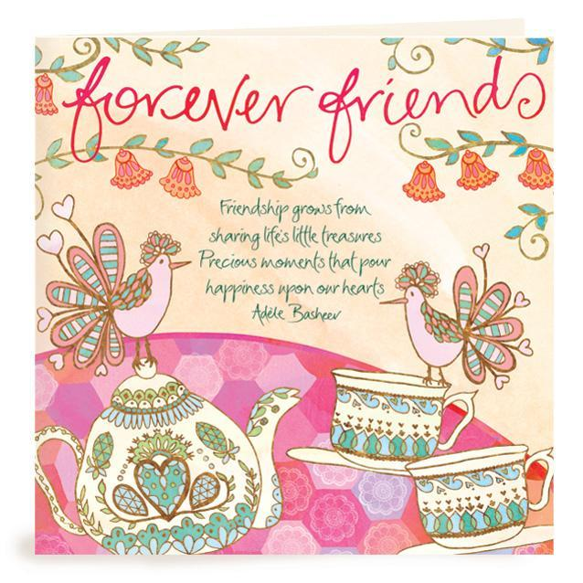 Intrinsic-Friendship Teacups Greeting Card