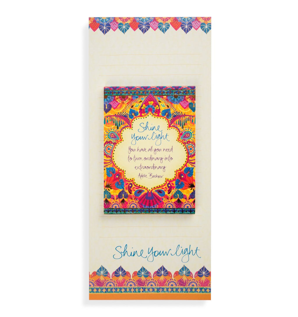 Intrinsic Gypsy Wanderer 'Shine Your Light' Magnetic List Pad Set
