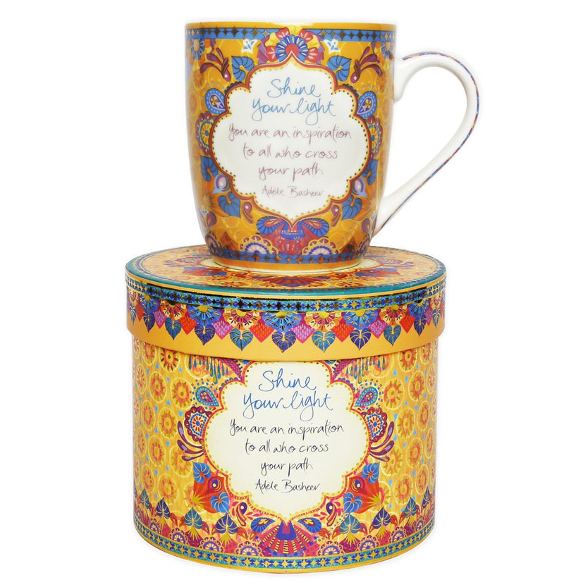 Intrinsic 'Shine Your Light' Gypsy Wanderer Mug with inspirational quote by Adèle Basheer
