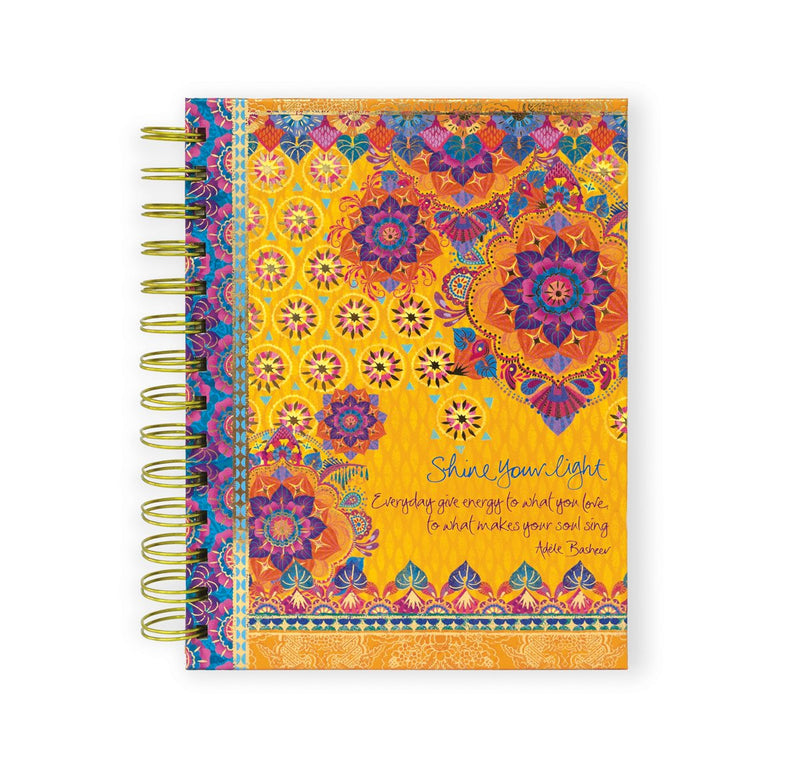 Intrinsic Gypsy Wanderer 'Shine Your Light' Spiral Notebook with motivational messages