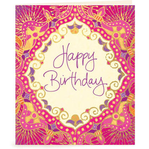 Intrinsic-Happy Birthday Pink Gift Tag