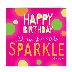 Intrinsic-Happy Birthday Wishes Sparkle Greeting Card