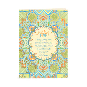 Intrinsic Baby Boy Greeting Card for Baby Shower or New Arrival with Adèle Basheer words