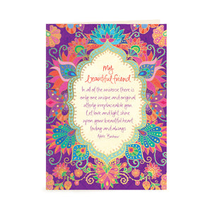 Australian Intrinsic Beautiful Friend Just Because Greeting Card with Adèle Basheer friendship message