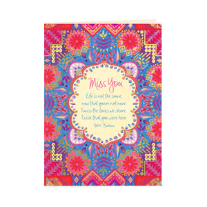 Australian Intrinsic Adèle Basheer Inspirational Quote Greeting Card - Miss You