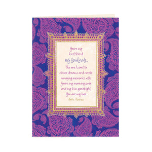 Australian Intrinsic Soulmate Lover Greeting Card with love message by Adèle Basheer
