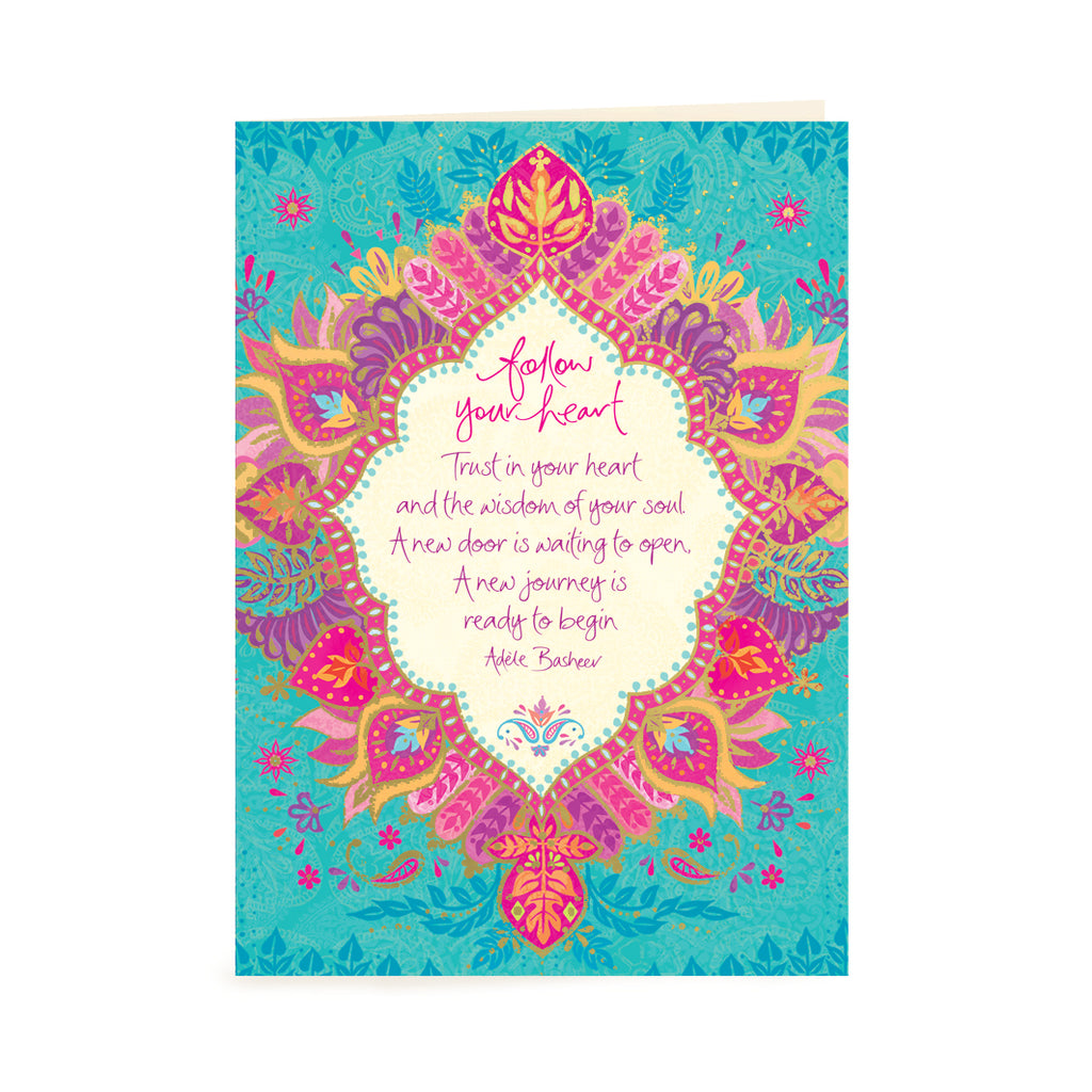 Australian Intrinsic Encouragement Greeting Card with Inspirational Quote