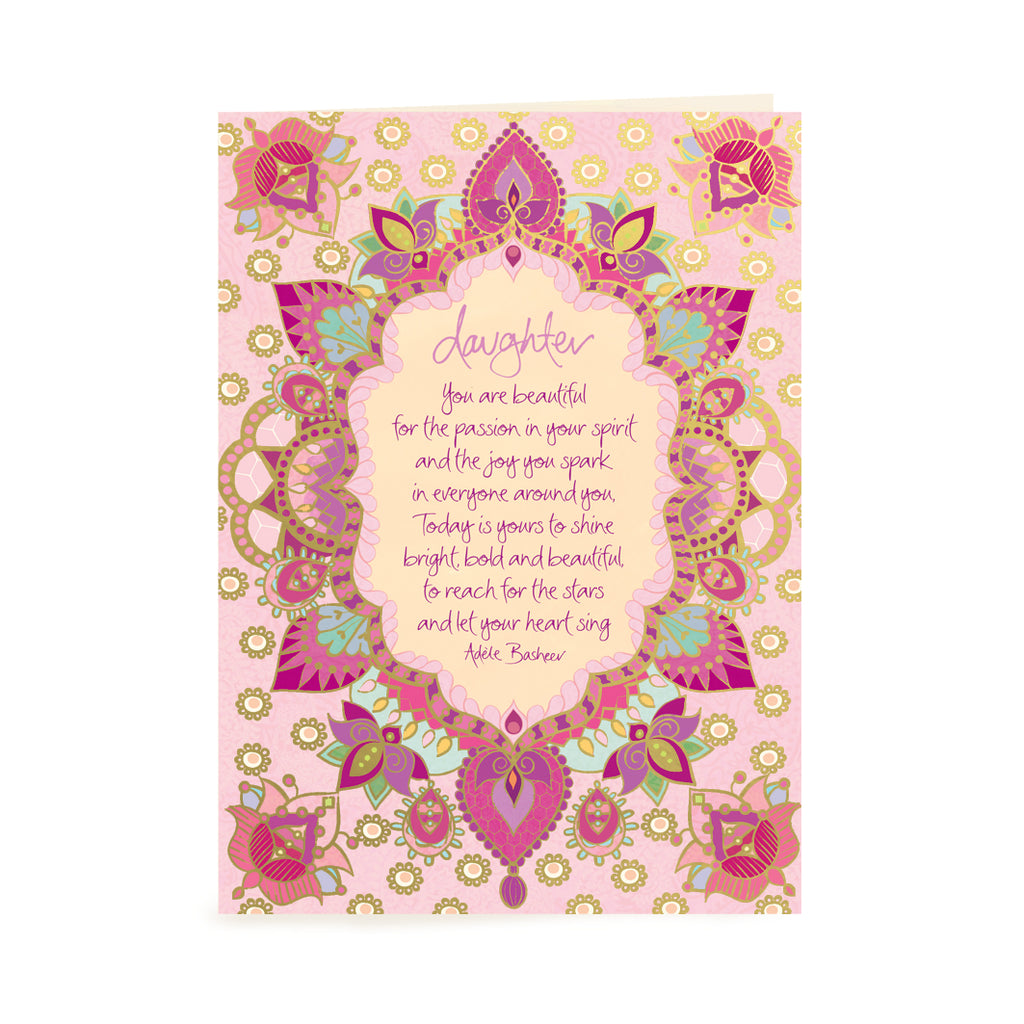 Australian Intrinsic Daughter Birthday or Just Because greeting gift tag