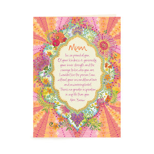 Australian Intrinsic Mum and Mother's Day Inspirational Greeting Card Gift