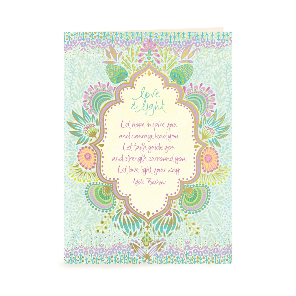 Australian Intrinsic Strength and Courage Greeting Card with Inspiration words