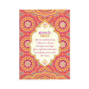 Australian Inspirational Greeting Card for Miracle Makers