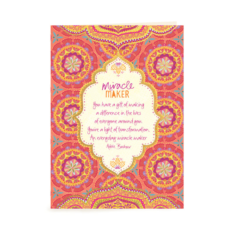 Intrinsic Miracle Maker Just Because Greeting Card with inspirational words