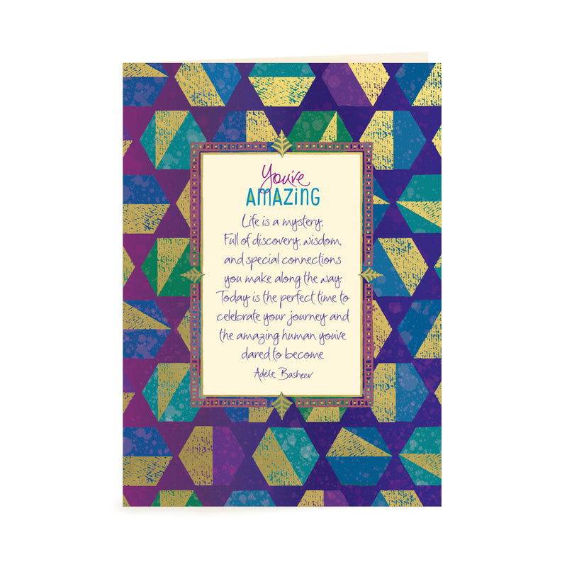 Intrinsic You're Amazing Male Birthday Greeting Card