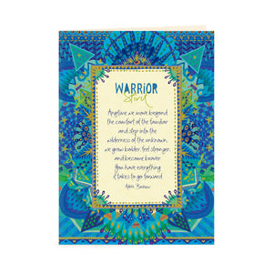 Australian Intrinsic Inspirational Greeting Card with Motivational Message of courage and strength