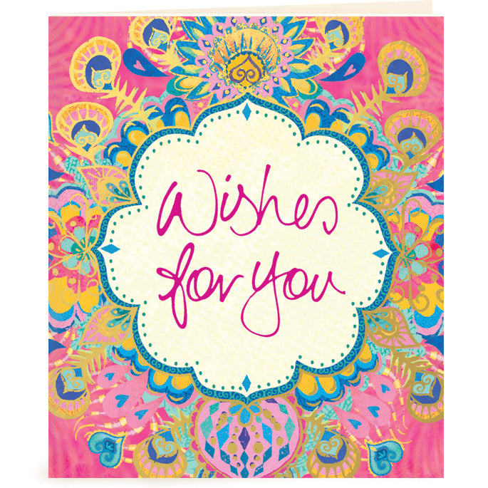 Wishes for You Pink Gift Tag