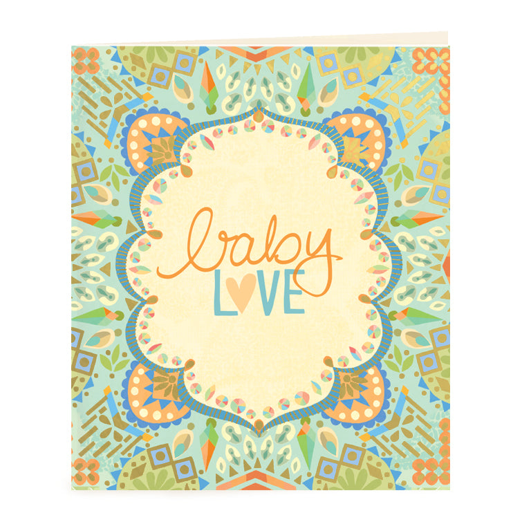 Intrinsic Adèle Basheer Baby Love Gift Tag Card