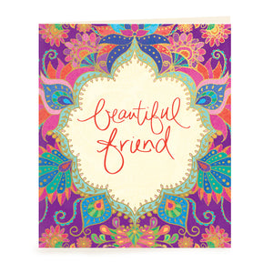 Intrinsic Adèle Basheer Beautiful Friend Gift Tag Card