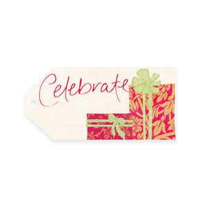 Intrinsic Red and Green Christmas Celebrate Gift Tag