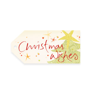 Intrinsic Christmas Wishes Red & Green Gift Tag