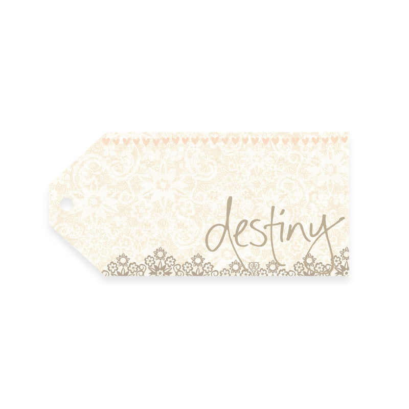 Intrinsic Cream and Gold Destiny Gift Tag