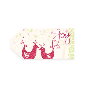 Intrinsic Christmas Red & Green Joy Gift Tag