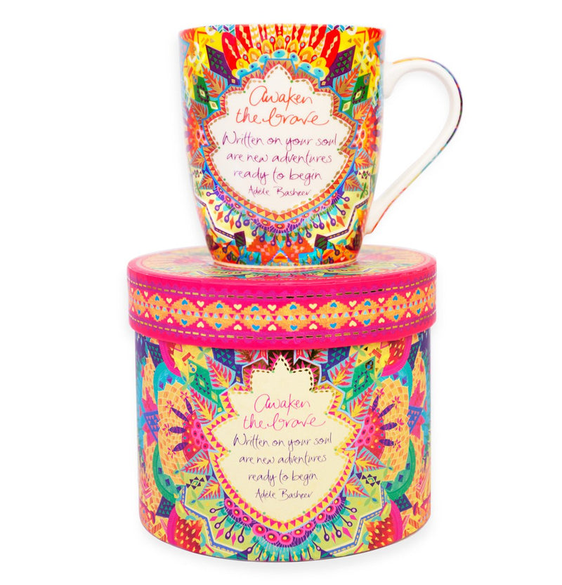 Intrinsic Kaleidoscope Tribe 'Awaken the Brave' Inspirational Mug