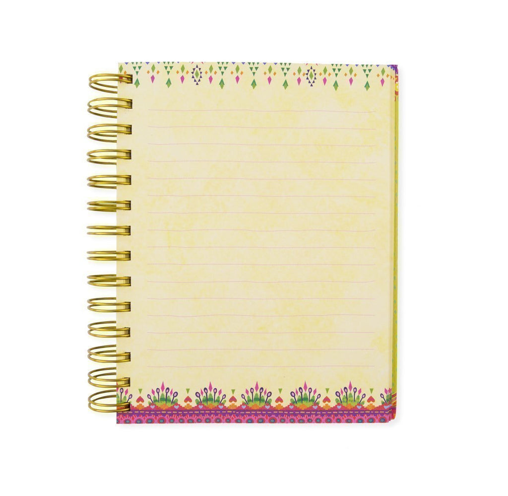Intrinsic-Kaleidoscope Tribe Spiral Notebook