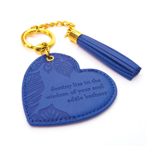 Intrinsic Lapis Blue Key Chain / Key Ring with inspirational message