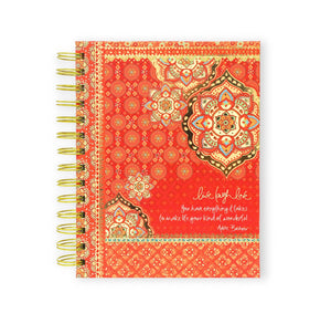 Intrinsic-Live Laugh Love Red Spiral Notebook