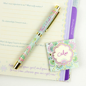 Love & light Pastel Teal and Lavender Rollerball Pen