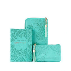 Intrinsic-Luxe Travel Journal - Turquoise