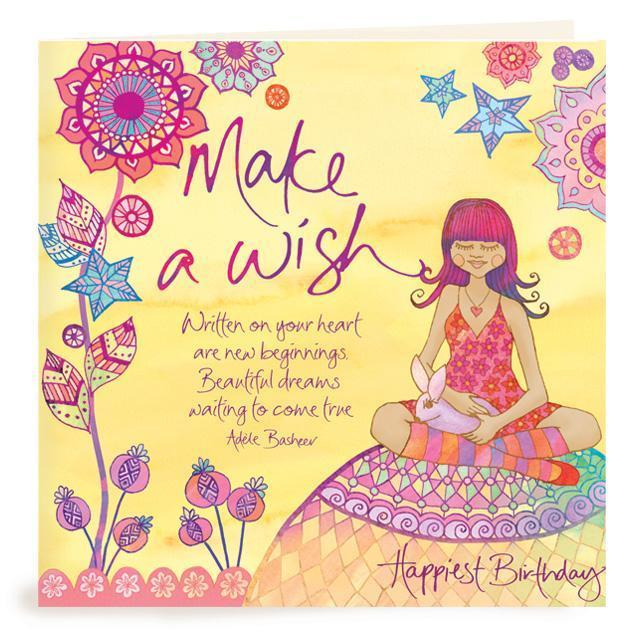Intrinsic-Make A Wish Birthday Greeting Card
