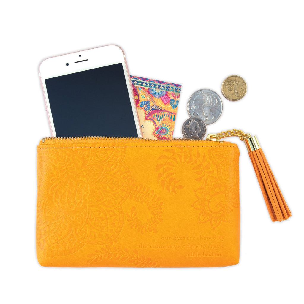 Intrinsic Marigold Yellow Coin Purse for your phone, money, credit cards and everyday essentials