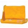 Intrinsic Marigold Yellow Coin Purse in vegan leather with motivational message