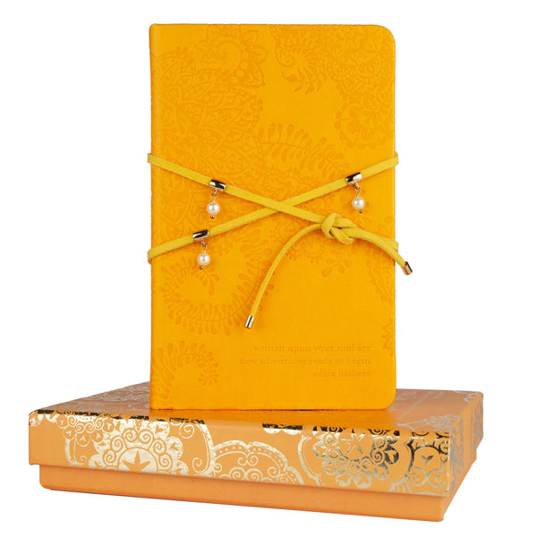 Marigold Pearl Wrap Journal-The Intrinsic Way