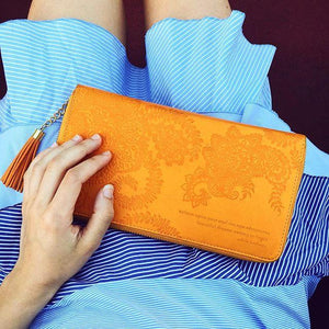 Intrinsic-Marigold Travel Clutch