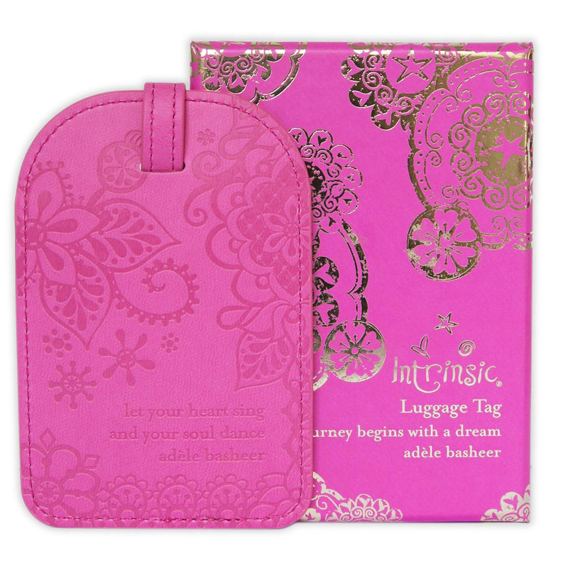 Intrinsic-Miami Pink Luggage Tag