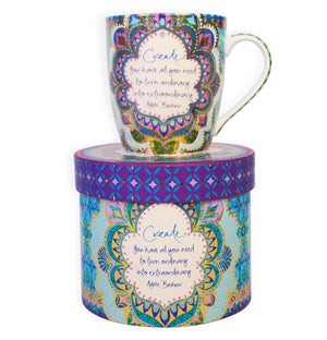Intrinsic Persian Moonlight Create Mug with inspirational quote