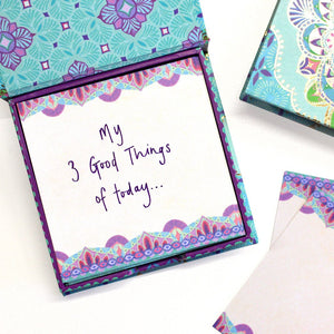 Intrinsic Persian Moonlight Create notepaper note box with inspirational messages