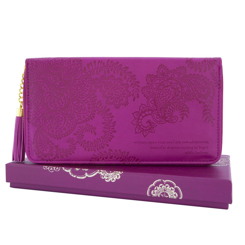 Intrinsic-Plum Cherry Travel Clutch