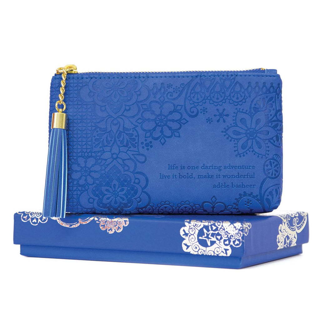 Intrinsic Santorini Blue Coin Purse with Adèle Basheer positive quote