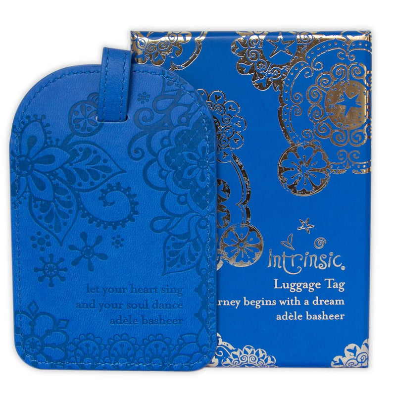 Intrinsic-Santorini Blue Luggage Tag