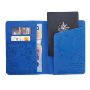 Intrinsic-Santorini Blue Passport Wallet